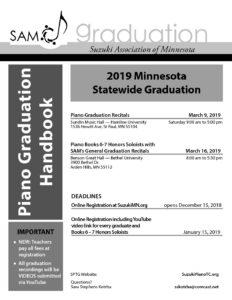 2019 SAM Graduation Handbook, Piano