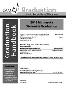 2019 SAM Graduation Handbook